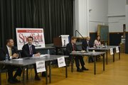 Candidates for Bethlehem Town Board met Monday, Oct. 24, to debate in a forum hosted by The Spotlight, The Albany County League of Women Voters and the Capital Area Council of Churches. Jeremy Near, Jeremy Martelle, Joann Dawson and Jeffrey Kuhn fielded questions submitted by the audience.
