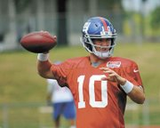 Action from the first day of New York Giants training camp at the University at Albany Friday, July 27. Interviews include Tony Mogavero of Colonie, Sam and AJ Rovner of Long Island and John Maxian of Rensselaer.