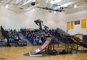 Watch the Rise Above BMX team perform various tricks and stunts during Voorheesville CSD's Wellness Day Thursday, March 21.