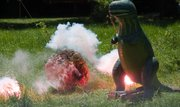 """Watch an asteroid come crashing down onto a T-Rex during the """"Walk Thru Time"""" presentation at Five Rivers Environmental Education Center's Environment Fair on Thursday, May 16."""